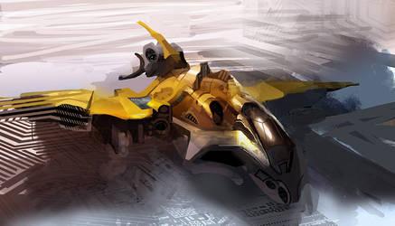 yellow ship by alexmartinez