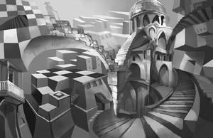 Escher Homage by alexmartinez