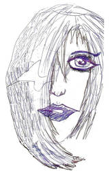 new drawing a girl's face by SAGarrett