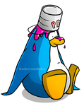 Penguin with Paint