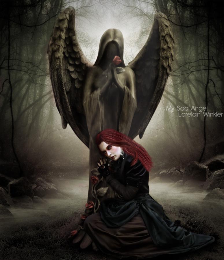 fantasy art angel sad - photo #24