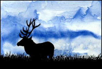 Elk Silhouette by shastaofthewolves
