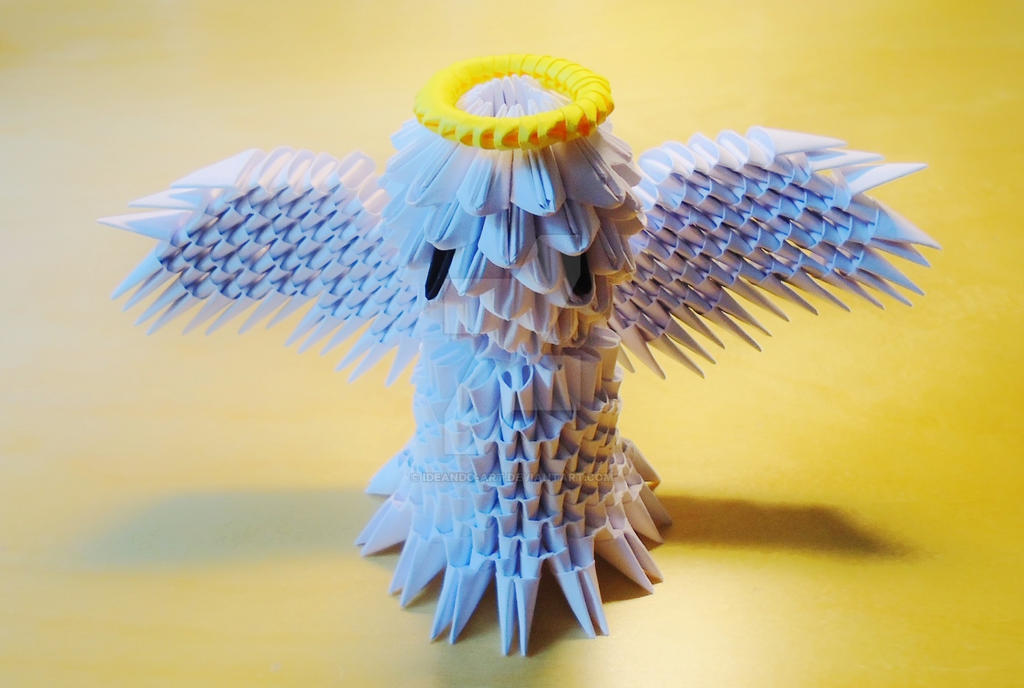 Origami 3d Angel By Ideando Art On Deviantart
