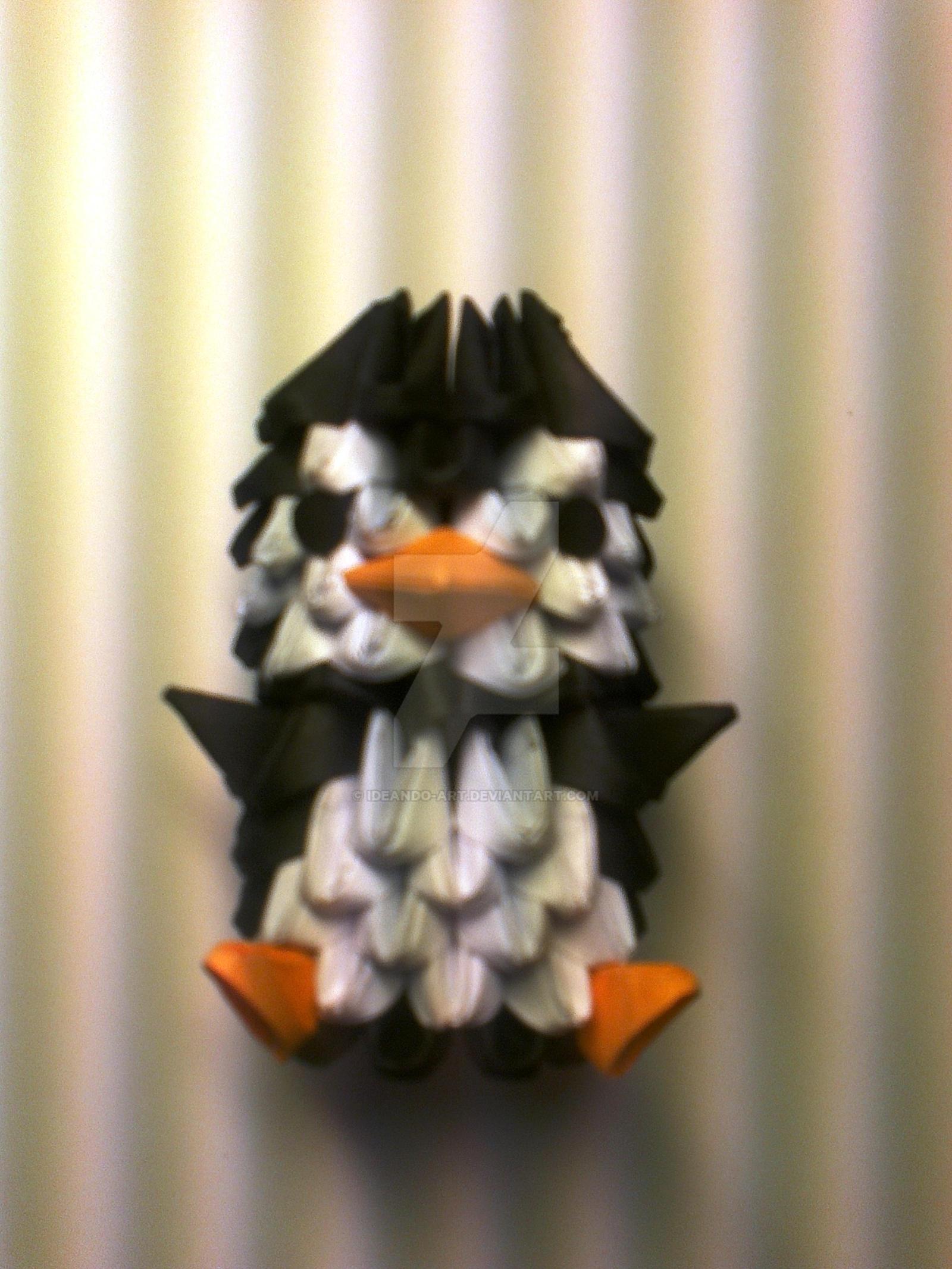 Origami 3D Funny Penguin by IDEAndo-art on DeviantArt - photo#19