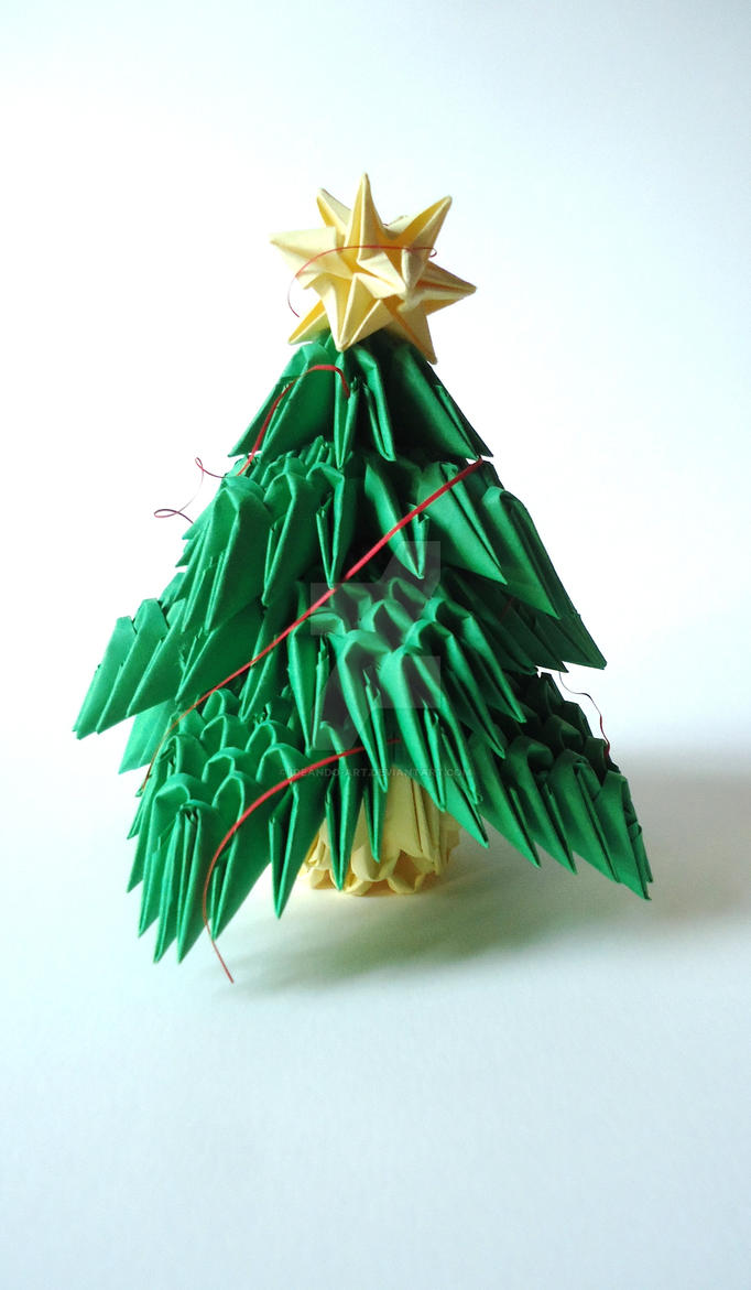Origami 3D Christmas tree, with Christmas star by IDEAndo ...
