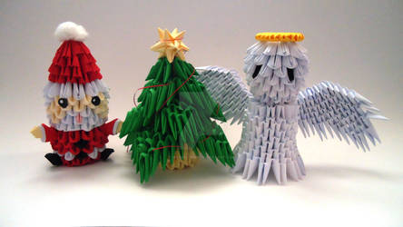 Origami 3D Christmas time