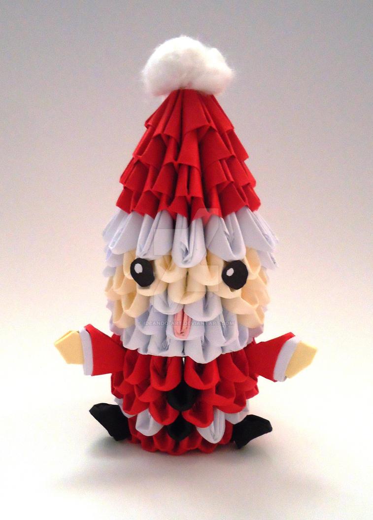 Origami 3d Santa Claus By Ideando Art On Deviantart - Origami-papa-noel
