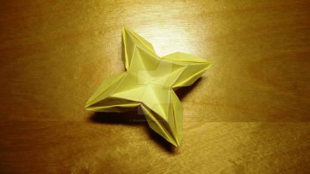 Origami christmas star by IDEAndo