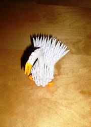 Origami 3D Little Swan