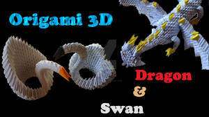 Origami 3D Swan and Dragon - VIDEO