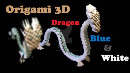 Origami 3D White Dragon - VIDEO by IDEAndo-art