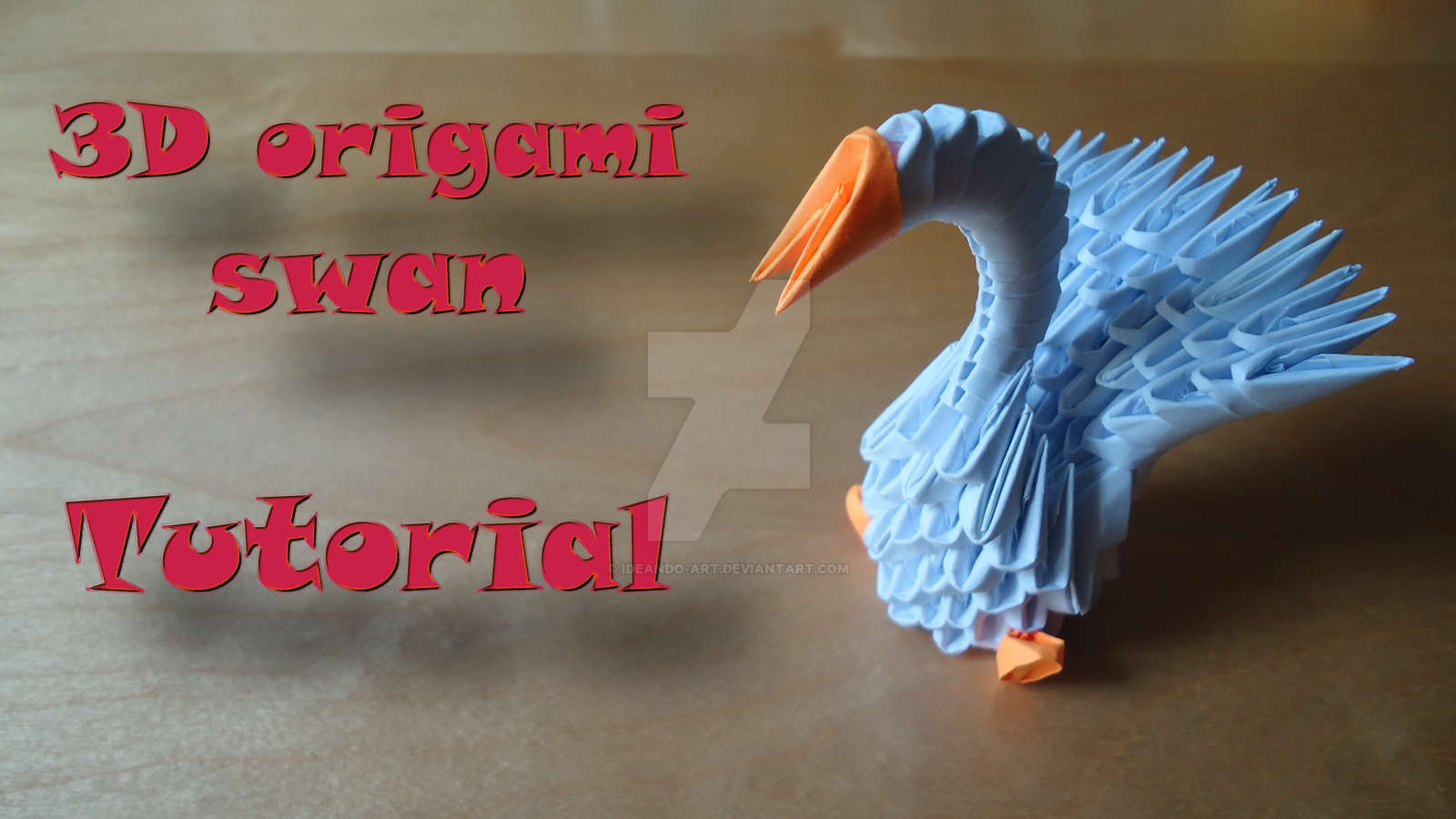 How to make a 3D Origami Swan model #1 by IDEAndo-art on ... - photo#48