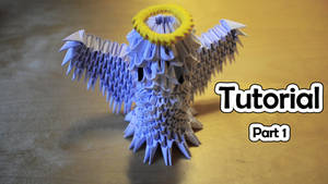 How To Make a 3D Origami Angel (part 1) VIDEO