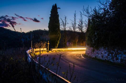 Road lights.