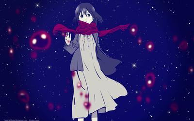 Blood and starlight(mikasa wallpaper)