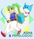 Asha and Pepelogoo