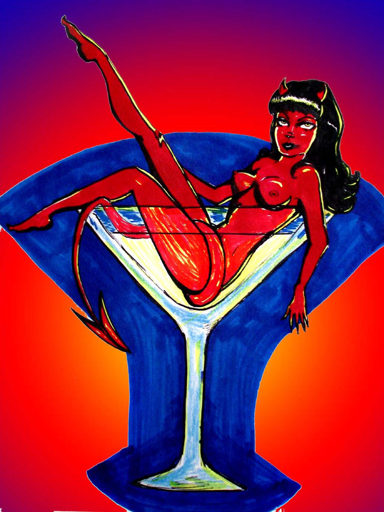 She devil martini by westernwitch on deviantart for She devil tattoo