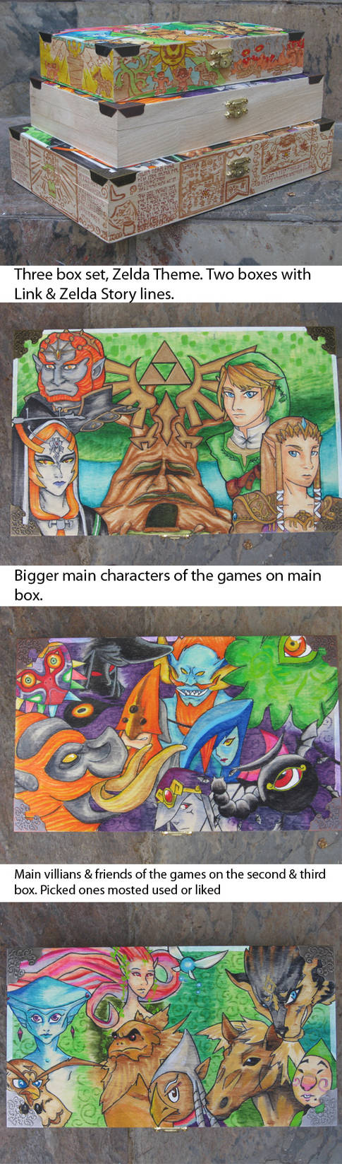 Zelda Link boxes three pack