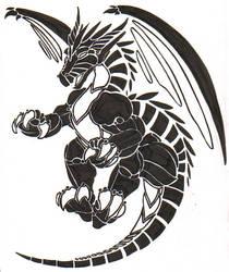 Tribal Dragon Tattoo-2