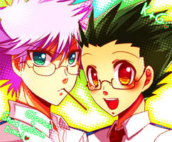 HxH - Glasses and uniforms by Yuki-mono