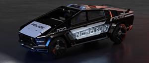 Night City police Cybertruck edition