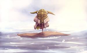 Yoda in the Mist by KendrickTu
