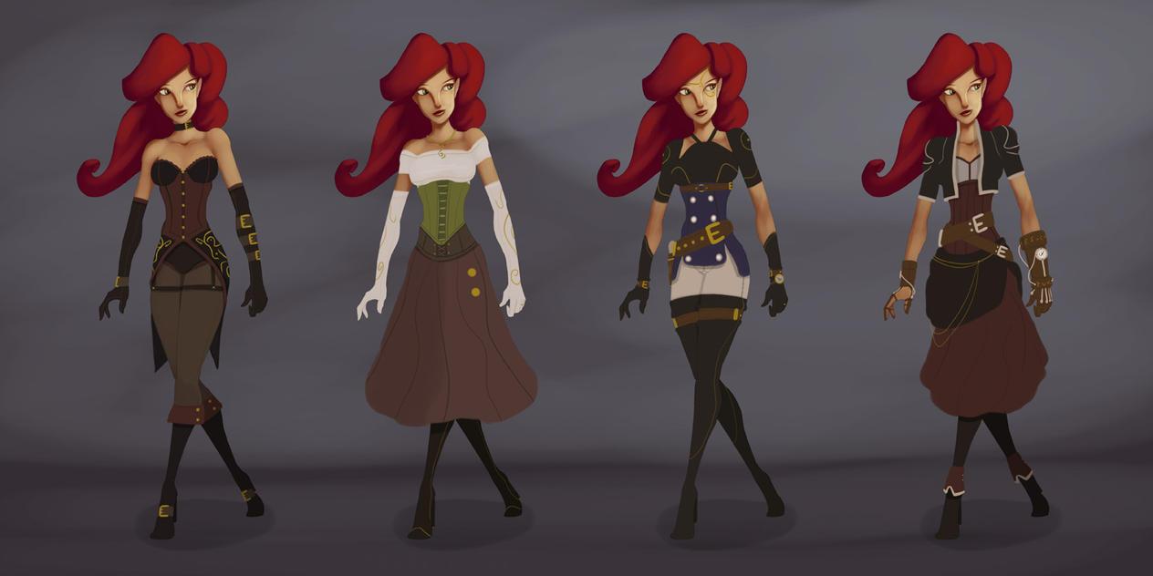 Female Elf : Character Design by KendrickTu