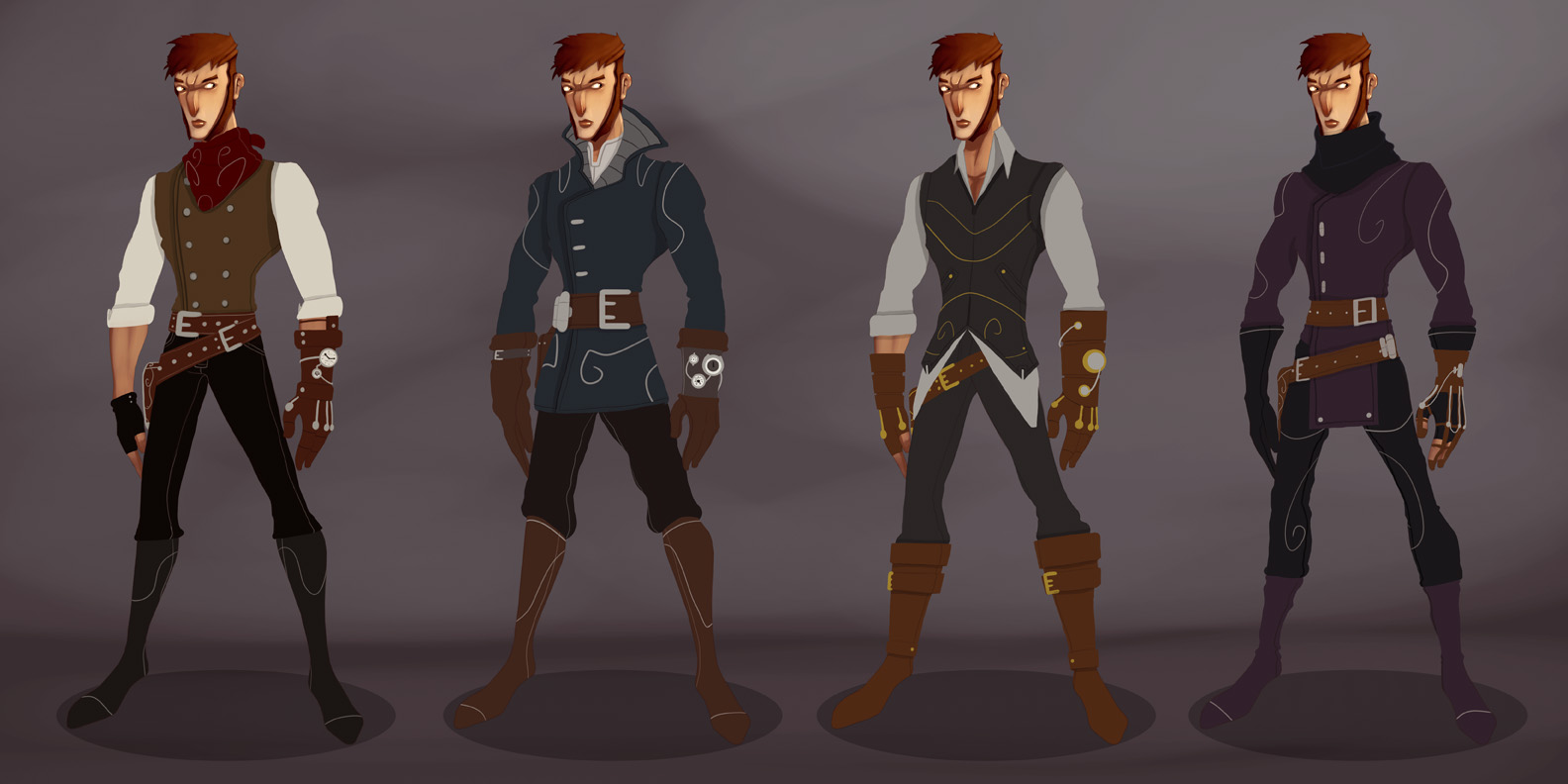 Male Human : Character Design by KendrickTu
