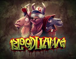 Blood Llamas by KendrickTu