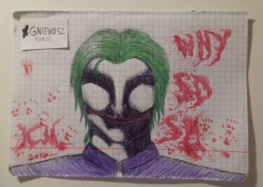School sketches #1 The Joker by GniewoszPlamisty