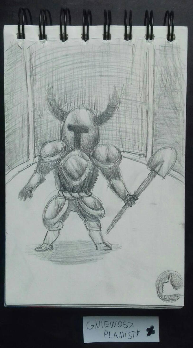 Daily Drawing #2 Shovel Knight by GniewoszPlamisty