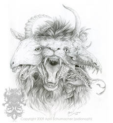 Chimaera Sketch by pallanoph