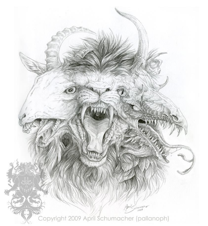Chimera Greek Mythology Drawing Chimaera Sketch