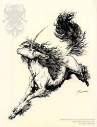 Mara Unicorn: Ink by pallanoph