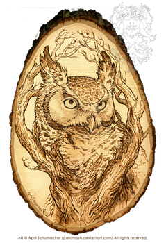 The Sentinel: Pyrography