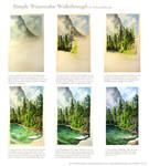 A Simple Watercolor Walkthrough: Landscape