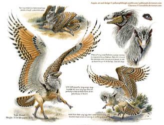 Custom Aequis: Desert Rufous-Legged Owl by pallanoph