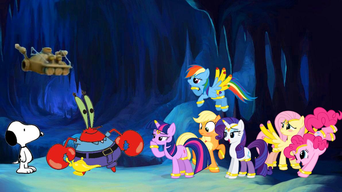 Mr  Krabs' Genie Ponies by Greenfavoritecolor on DeviantArt
