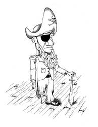 Self Portrait As A Pirate by 1hundredmilesaway