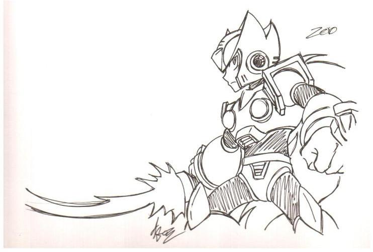Dibujos Para Pintar De Megaman X - Dibujos Para Pintar