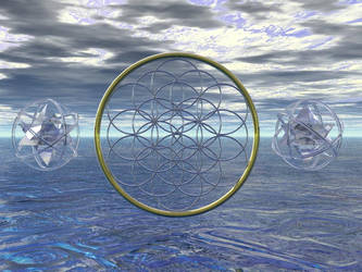 Mer-ka-ba and Flower of Life by LogixTheName