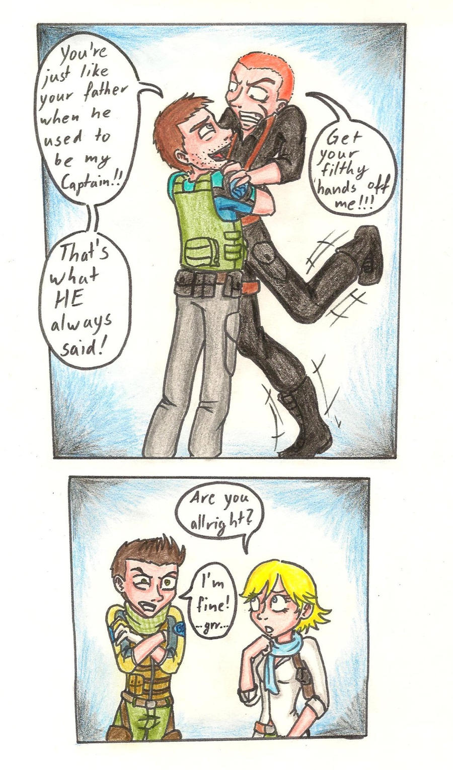 meeting Wesker Jr. (part 2) by LittleWerewolfX3
