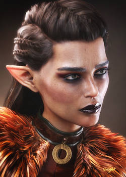 Portrait of an elf woman