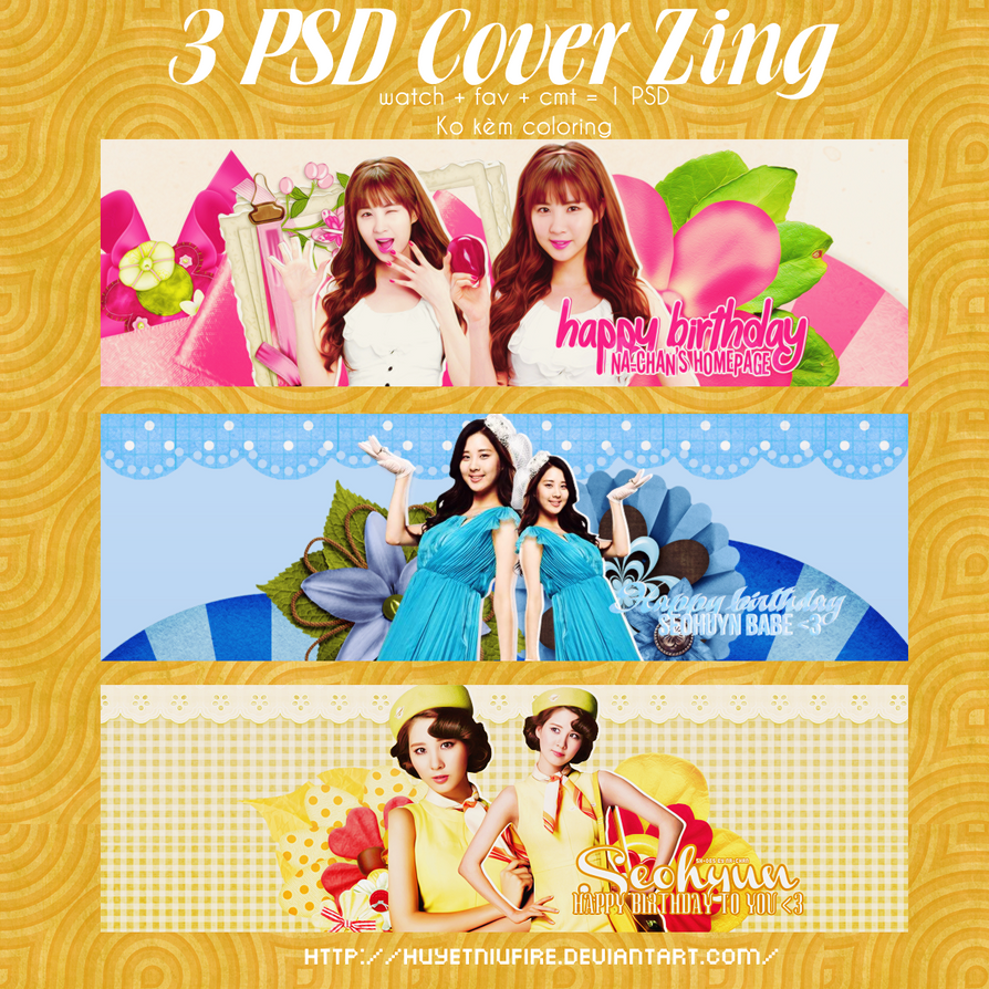 [PSD] 3 PSD Cover Zing_HPBD Seohyun by huyetniufire