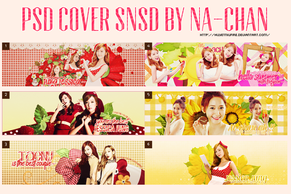 [PSD Pack] PSD Cover SNSD by Na-chan by huyetniufire