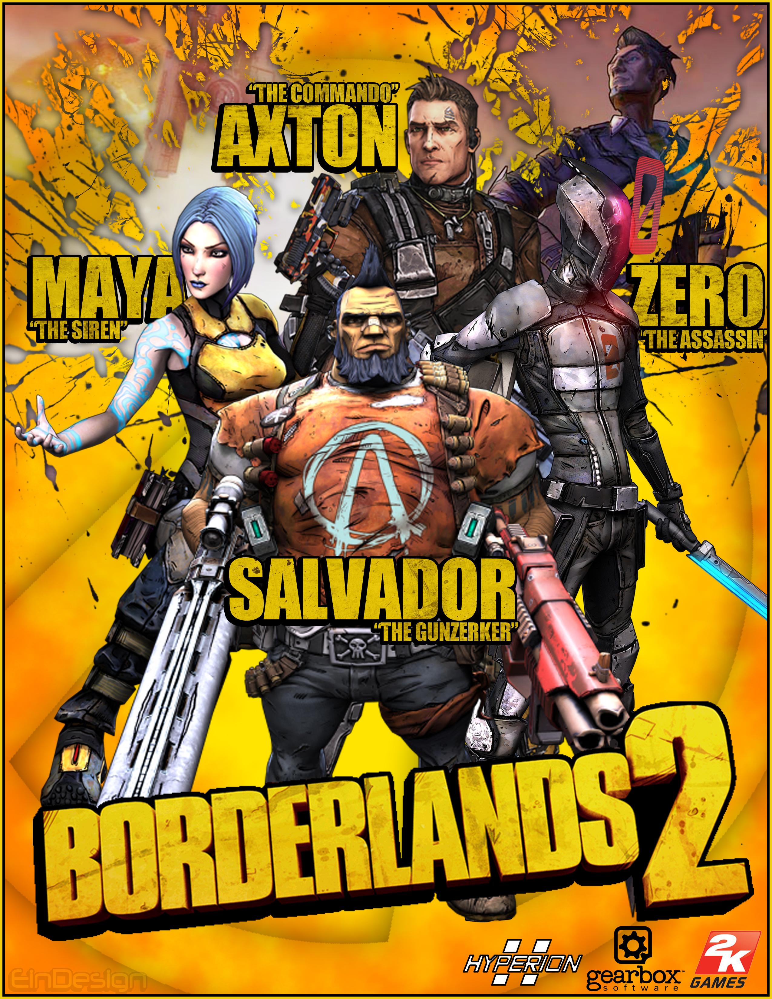 Borderlands 2 poster by theein on deviantart - Borderlands 3 box art wallpaper ...