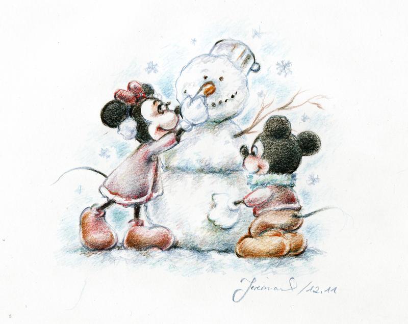 Mickey and Minnie by jeremiasch
