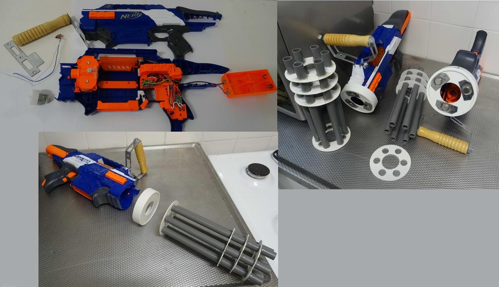 Nerf gun rapid strike to a minigun (WIP) by Gruntoks ...
