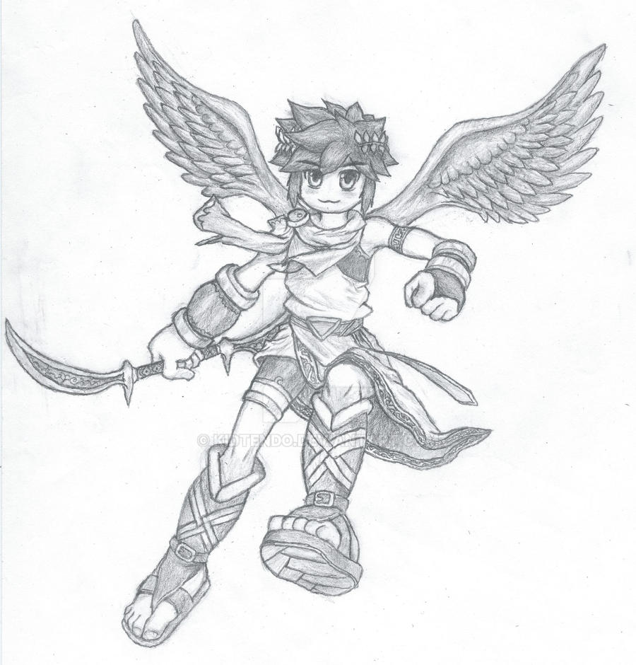 Pit Kid Icarus Drawing