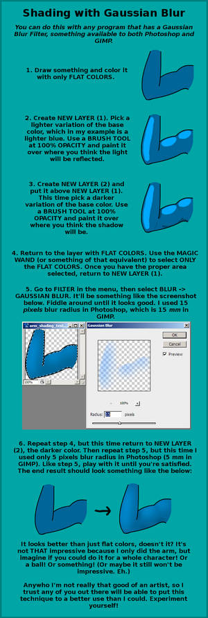 Gaussian Blur Coloring/Shading Tutorial